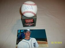 Rick Porcello Autographed Rawlings Official Major league Baseball W/ 4X6 Picture