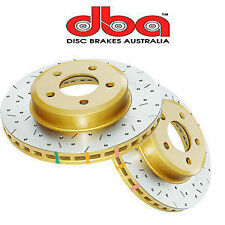 DBA 4000XS Slotted Cross Drilled Rotors fr Ford Falcon BF FG XR6 Turbo XR8 Front