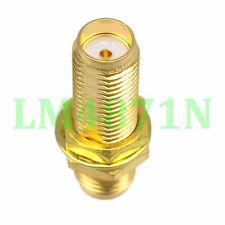 1pce Adapter SMA female to SMA female bulkhead panel mount RF connector straight