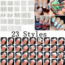 20~100 Sheets French Manicure Nail Art Salon Tips Tape Stickers Guide DIY Decor