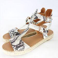 maypol Zapatos Sandalias Cuero Natural Piton óptica TALLA 41 hecho a mano ESPAÑA
