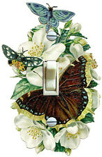 Vintage Butterfly & Dogwood Illustration Single Switch Plate *Free Shipping*