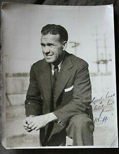 "1934 Signed Photo of Maurice""Clipper""Smith-Santa Clara,Gonzaga Football Coach"