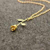 1X(mit Anhaenger Halsband Halsband Halskette fuer Frauen Ketten(Golden) V5D6) 2A