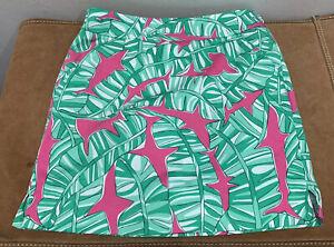 Loudmouth Cotton Floral Golf Skirt Skort Women's Size 0