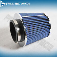 BLUE KN TPYE AIR FILTER INTAKE UNIVERSAL FOR MOST CAR 3.75 PERFORMANCE INLET