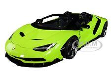 LAMBORGHINI CENTENARIO ROADSTER SOLID LIGHT GREEN 1/18 MODEL CAR AUTOART 79118