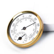 Termometro Higrometro Mini Ronda Reloj en forma de medición interior al aire libre Jardín