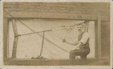 Featherstone, Pontefract posted Man & Hoist Apparatus. Written in Purston.