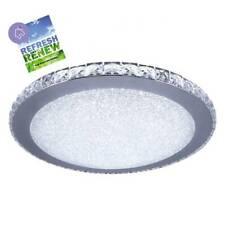 iLett Crystal Round LED Ceiling Light Fixture Russian Style 14 in 18W 6000K