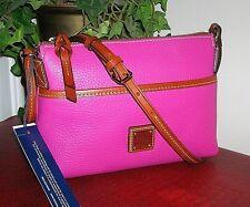 Dooney & Bourke Ginger Pouchette Magenta/Pink Leather Crossbody/Purse nwt