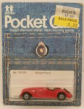 Tomica Pocket Cars #140-F26 Morgan Plus 8 Roadster Red MOC c.1981 1/57 Scale