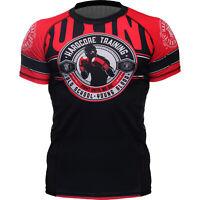 Rash Guard Men's HCT Round Base Layer Compression Shirt MMA BJJ UFC No-Gi Active