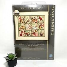 Dimensions Gold Collection 12 Days of Christmas Counted Cross Stitch New DeWitt