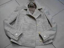 Ladies REISS linen cotton tailored jacket small UK 10 12 cream military AMANDA