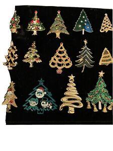 vintage christmas tree/brooch Lot Of 14