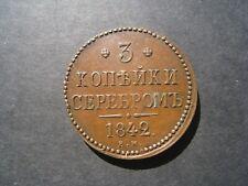 More details for russia 3 kopeks 1842em.
