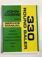 SERVICE MANUAL FOR JOHN DEERE 330 ROUND BALER TM-1384 REPAIR MANUAL