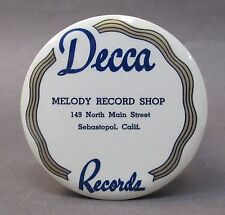 20's DECCA Melody Record SEBASTOPOL advertising celluloid record cleaner brush *