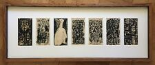 MID-CENTURY MODERNIST ARTIST ROLAND HURD - ORIG. SEVEN (7) PEN & INK ON PAPER