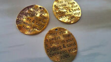 BULK Charms Quote Charms Word Pendants Nautical Ocean Saying 10pcs 30mm
