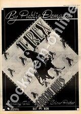 T.Rex Great Hits BLN5003 MM3 LP advert 1973