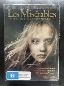 LES MISERABLES DVD HUGH JACKMAN RUSSELL CROWE Brand New Sealed with Slip Cover