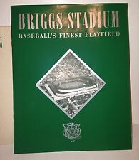 RARE 1948 Detroit Tigers Briggs Stadium baseball program book MINT