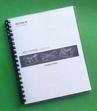 Sony NEX FS700R Video Camera 56 Page LASER PRINTED Owners Manual Guide