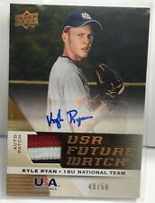 Kyle Ryan 2009 UD Siganture Stars USA 3 color GU Patch RC Auto #d 49/50 - TIGERS