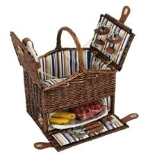 W and S Wickers and Straw Picnic Basket Hamper - 2 Person