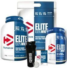 DYMATIZE ELITE WHEY 100% WHEY PROTEIN POWDER 907G 2.1KG 4.54KG ALL FLAVORS + SHA