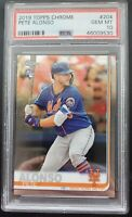 Pete Alonso - Topps Chrome Rookie Card - 2019 #204 - PSA GEM MT 10 - Mets