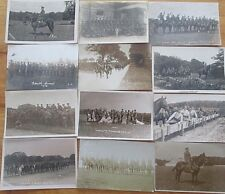 V RARE WW1 PERIOD A ALBUM OF GENUINE  RP POSTCARDS  OF THE LINCOLNSHIRE YEOMANRY