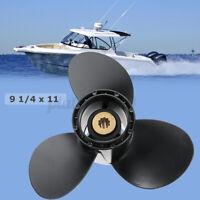 9 1/4 x 11 Aluminum Boat Outboard Propeller For Suzuki 9.9-15HP   **%