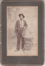 Small Cabinet Card 2.5 x 4 inch 1890s Black Middle Class Man Athens Georgia ID