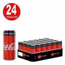 24 x Coca-Cola Zero Ohne Zucker 0,33L Dosen EINWEG Reduziert MHD 08/20 1,25€/L
