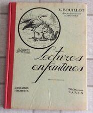 LIVRE SCOLAIRE ANCIEN LECTURES ENFANTINES HACHETTE INSTITUTEUR ÉCOLE