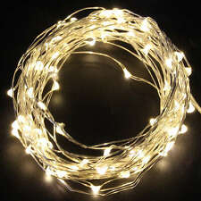 20 50 100 LED Wire String Fairy Party XMAS Wedding Christmas Lights Battery