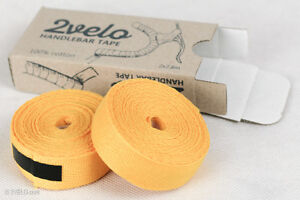 2Velo TOP COTTON Vintage HANDLEBAR TAPE yellow