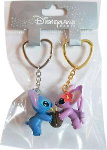 Disneyland Paris Stitch & Angel Magnetic Keychains Keyring Wedding His N Hers 3D
