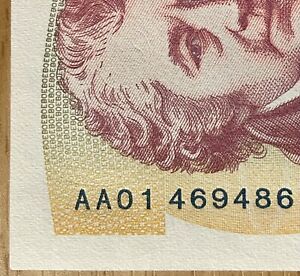 AA01 469486 RARE £50 UNCIRCULATED FIFTY POUND NOTE CHRIS SALMON BANK OF ENGLAND