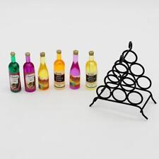 Doll House Miniature Kitchen Dollhouse Furniture Mini Black Wine&Rack 1:12 Scale