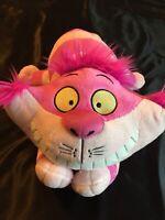 "Disney Cheshire Pink Cat Plush Stuffed Animal 16"" Alice in Wonderland, SANITIZED"