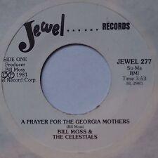 BILL MOSS & CELESTIALS: Prayer for Georgia Mothers PROMO DJ black gospel NM