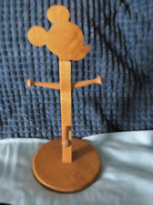 VINTAGE DISNEY'S MICKEY MOUSE MUG RACK - HOLDS 4 MUGS/CUPS STURDY WOOD BASE