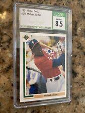 Upper Deck Michael Jordan Sp1 Chicago White Sox Baseball Rookie Card '91 CSG 8.5