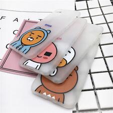 Korean Kakao Friends IMD Soft Black Bumper Case Cover For iPhone X 7 7 Plus 6 6S