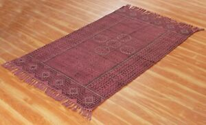 Indian Hand Block Printed Dhurrie Living Room Rug Handwoven Cotton Carpets 4x6