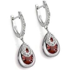 Ohrringe/Ohrstecker Mariana, 925er Silber, 4,56 Kt. echter Granat/Diamant